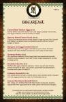 IE breakfast menu2018