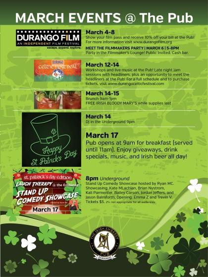 IE poster March events 2020