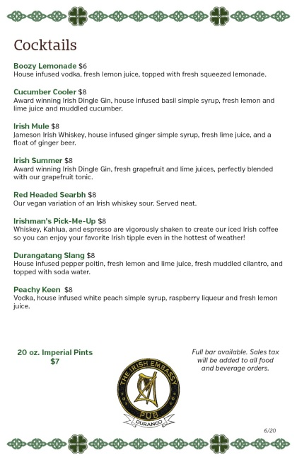 IE menu cocktails 6-20